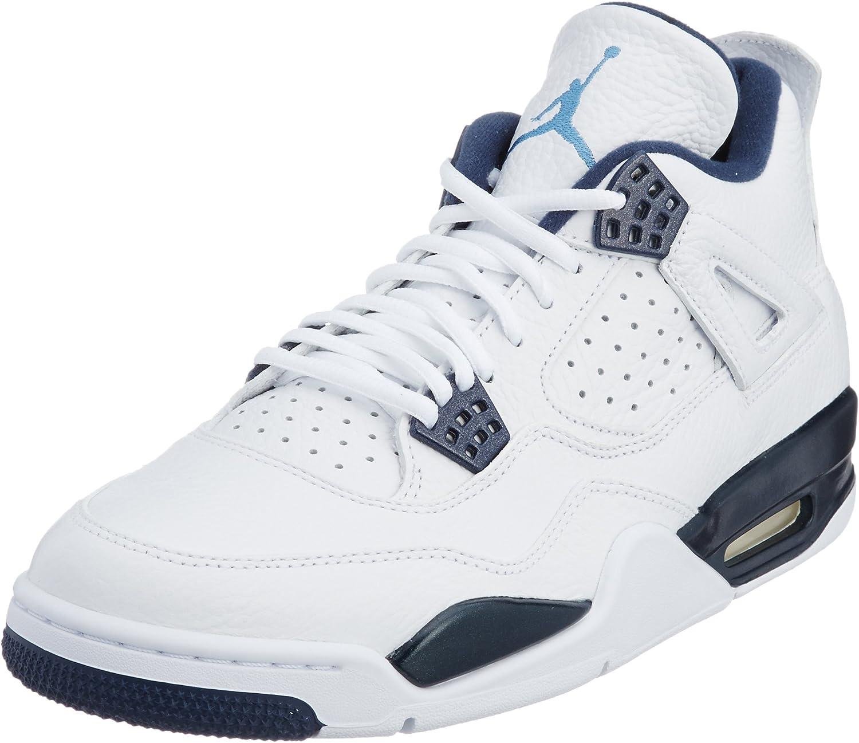 [ナイキ] スニーカー メンズ Air Jordan 4 Retro LS ホワイト/レジェンドブルー/ミッドナイトネイビー 28.5 cm
