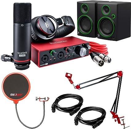 Focusrite Scarlett 2i2 Studio Interfaz de audio USB (3ª generación) con monitores de estudio Mackie CR3