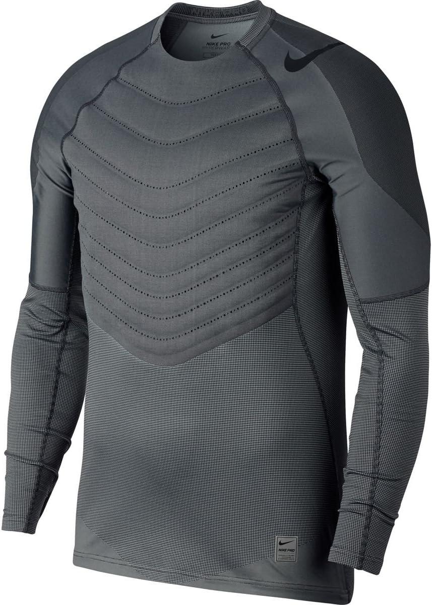 (ナイキ) Nike Pro Hyperwarm Aeroloft Fitted Top メンズ シャツ・トップスBlack/Black [並行輸入品]