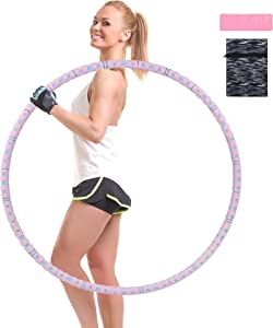 GS CHIER Weighted Massage Hoops for Adults Fitness, Exercise, and Cardio, Fun Core Trainer and Cardio Equipment for Home, Gym, or Travel Use, Weighted Training Loop