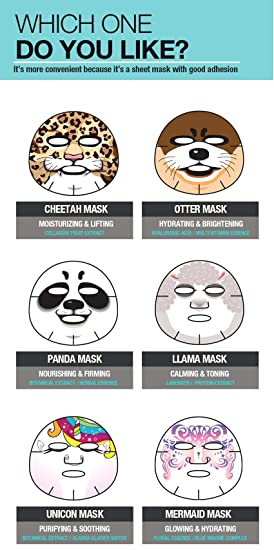Amazon.com : Epielle Cheetah Character Sheet Facial Mask (6 pack) : Beauty
