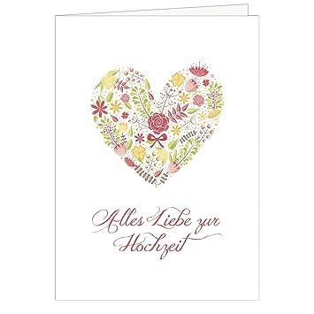 Grosse Gluckwunschkarte Zur Hochzeit Xxl A4 Herz Aus Blumen Bunt