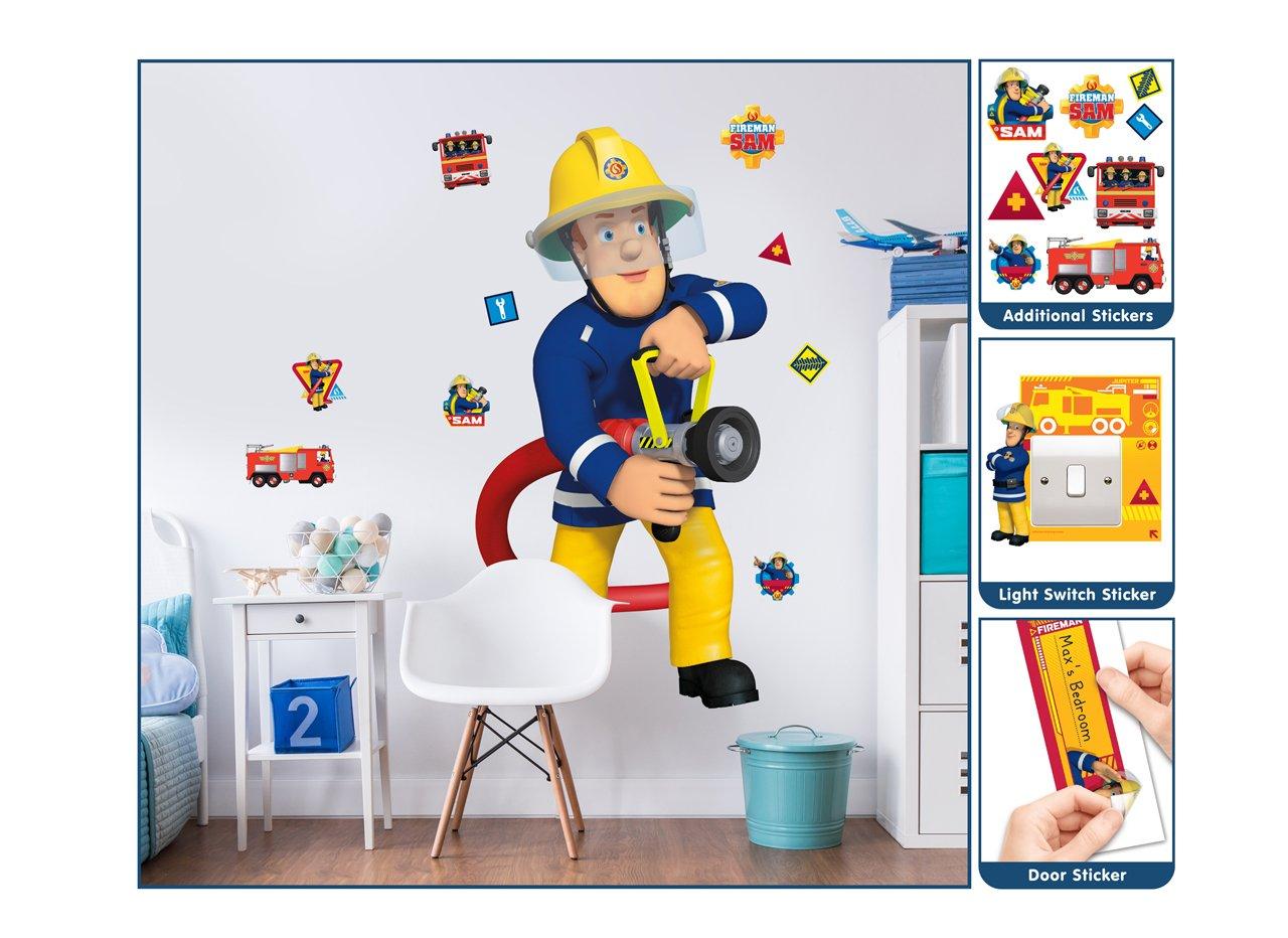 Walltastic Fireman Sam Large Character Wall Sticker Set, Multi Colour:  Amazon.co.uk: Kitchen U0026 Home