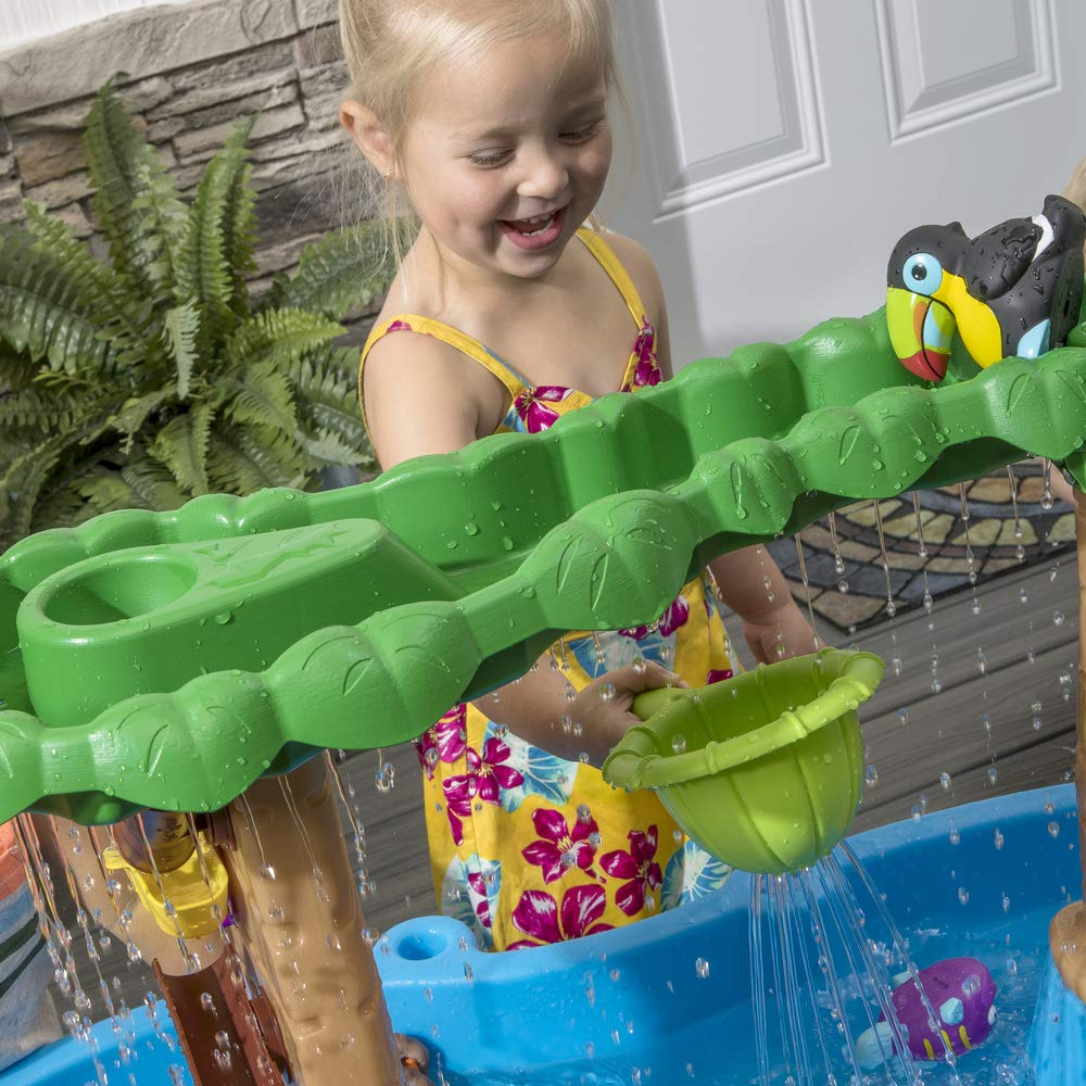 Step2 Tropical Rainforest Water Table | Colorful Kids Water Play Table with 13-Pc Accessory Set by Step2 (Image #3)