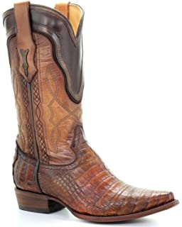 Men's Lizard Cowboy Boot Snip Toe - C3237