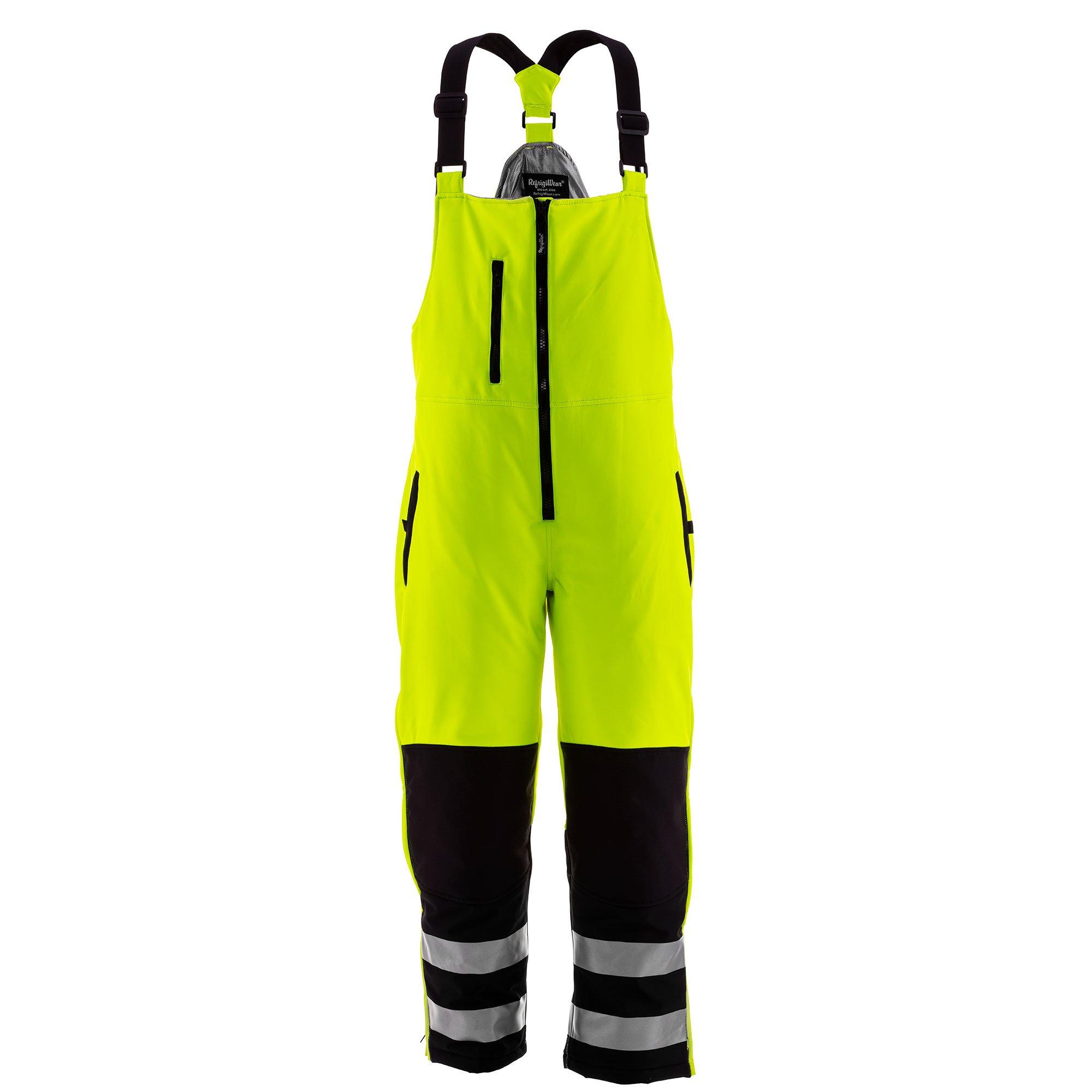 RefrigiWear Men's HiVis Pant Black/Lime 4XL