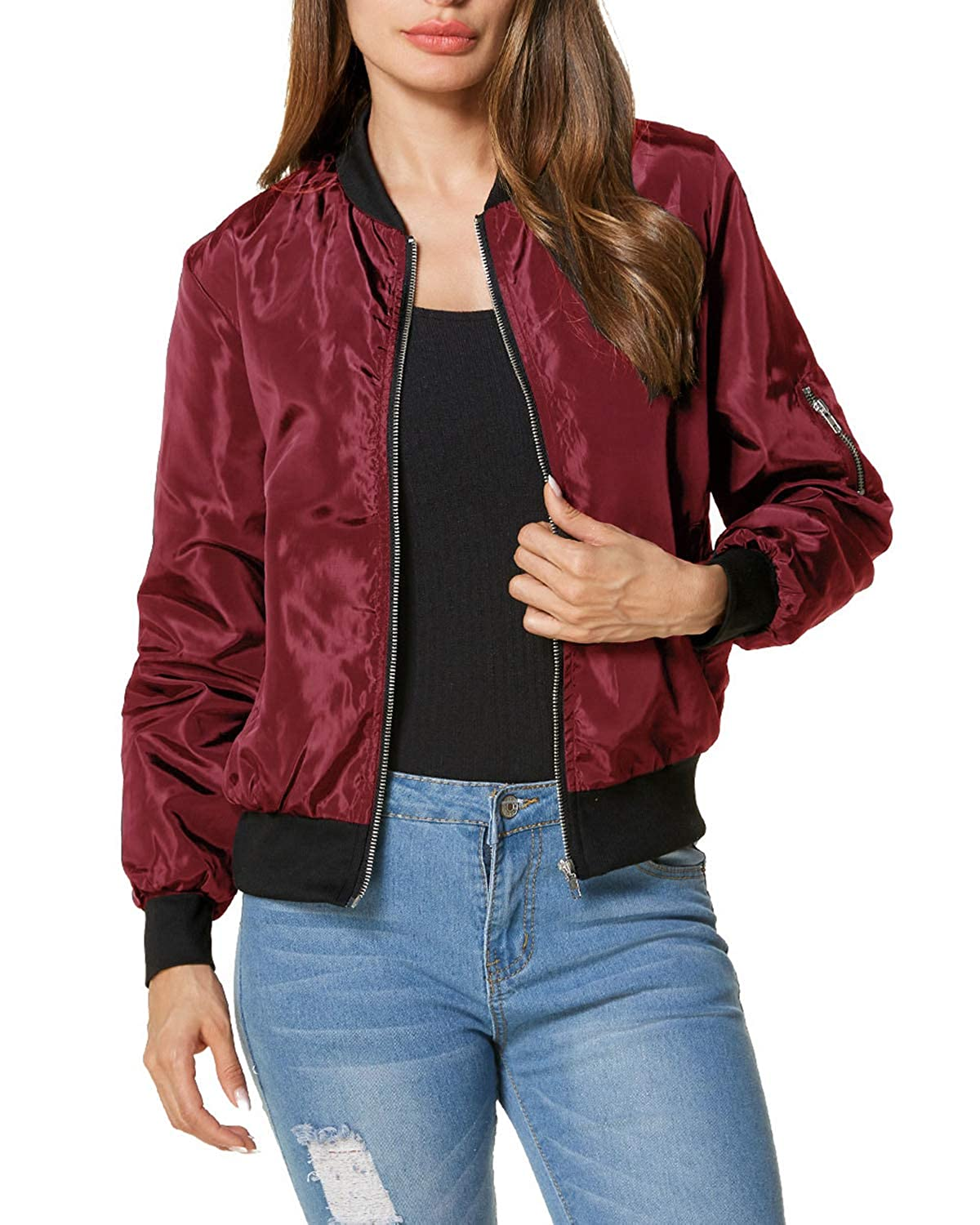 db410c48a ZANZEA Women Jackets Short Biker Bomber Classic Quilted Coat Outdoor ...