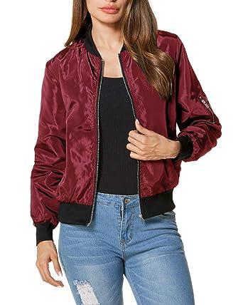 6384793b07c ZANZEA Ladies Celeb Collar Bomber Jacket Vintage Zip Up Biker Slim Coat  Short Outerwear Red 14