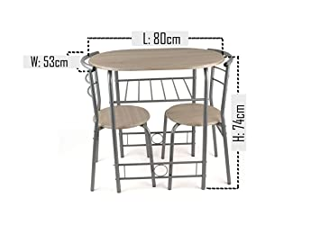modern dining room table 800 x 530 x 740mm and chairs 530 x 435