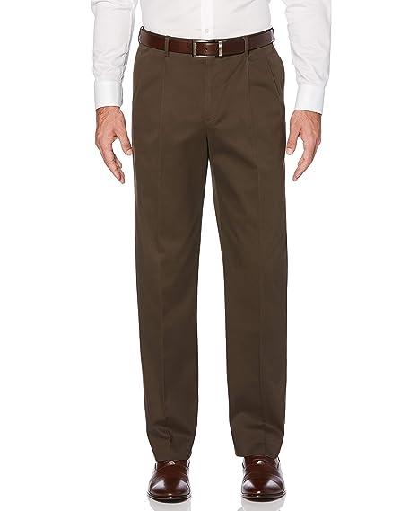 Savane Mens Mid Khaki Pants