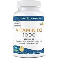 Nordic Naturals Vitamin D3 1000, Orange - 1000 IU Vitamin D3 - 120 Mini Soft Gels - Supports Healthy Bones, Mood…