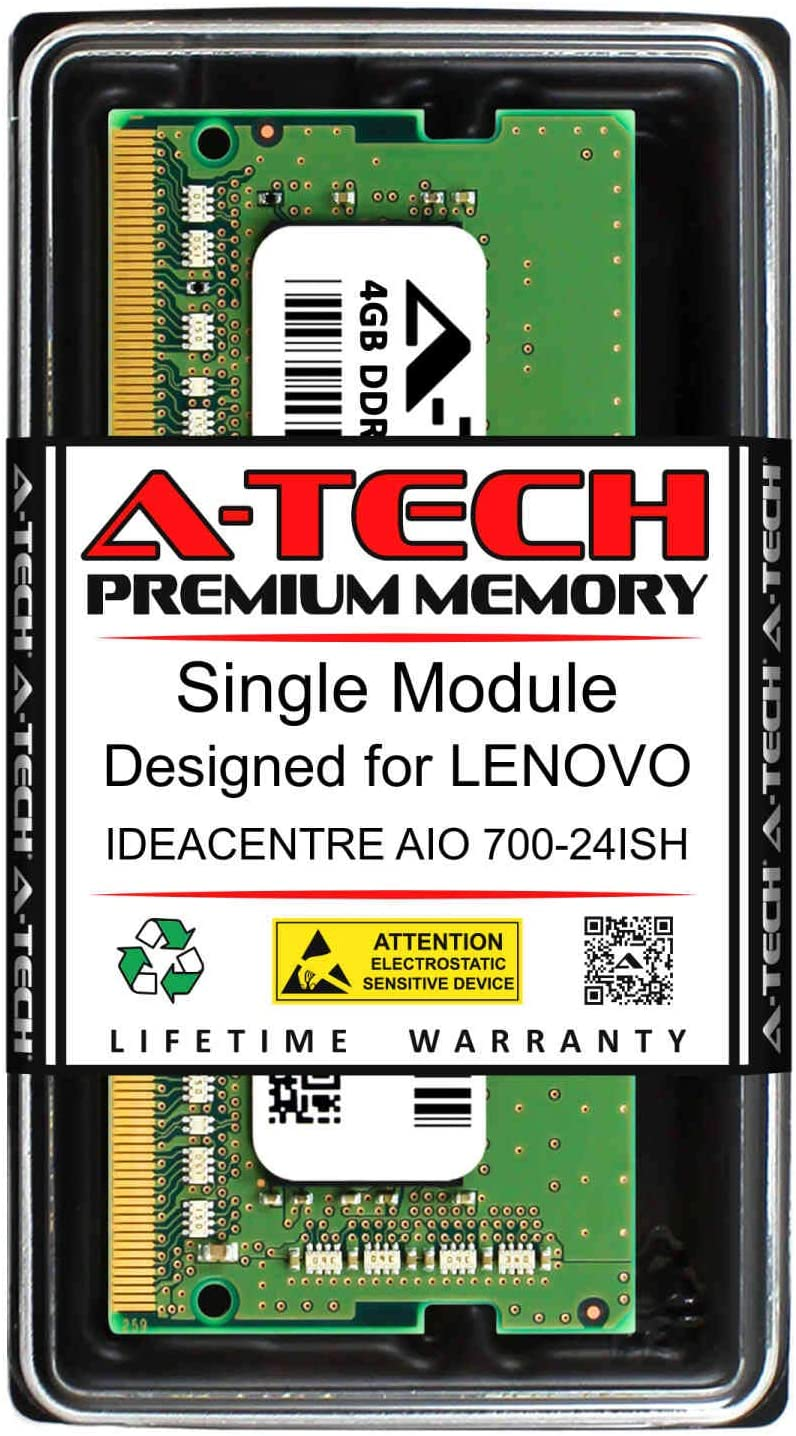 A-Tech 4GB RAM for Lenovo IDEACENTRE AIO 700-24ISH | DDR4 2133MHz SODIMM PC4-17000 260-Pin Non-ECC Memory Upgrade Module