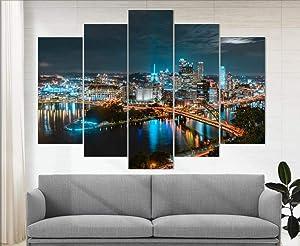 Marchak Pittsburgh Canvas Print, Pittsburgh Skyline, Pittsburgh Wall Decor, Pennsylvania, Pittsburgh Photo Pittsburgh Poster Pittsburgh Art