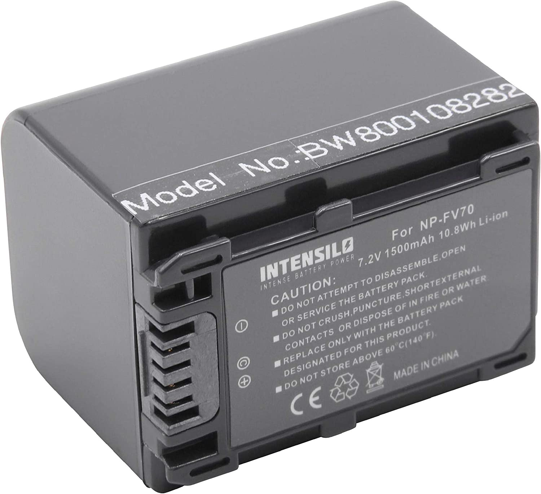 NP-FV100. NP-FV90 INTENSILO Li-Ion battery 1500mAh 7.2V DCR-DVD150E replaces NP-FV70 for video-camera camcorder Sony DCR-DVD110E DCR-DVD115E
