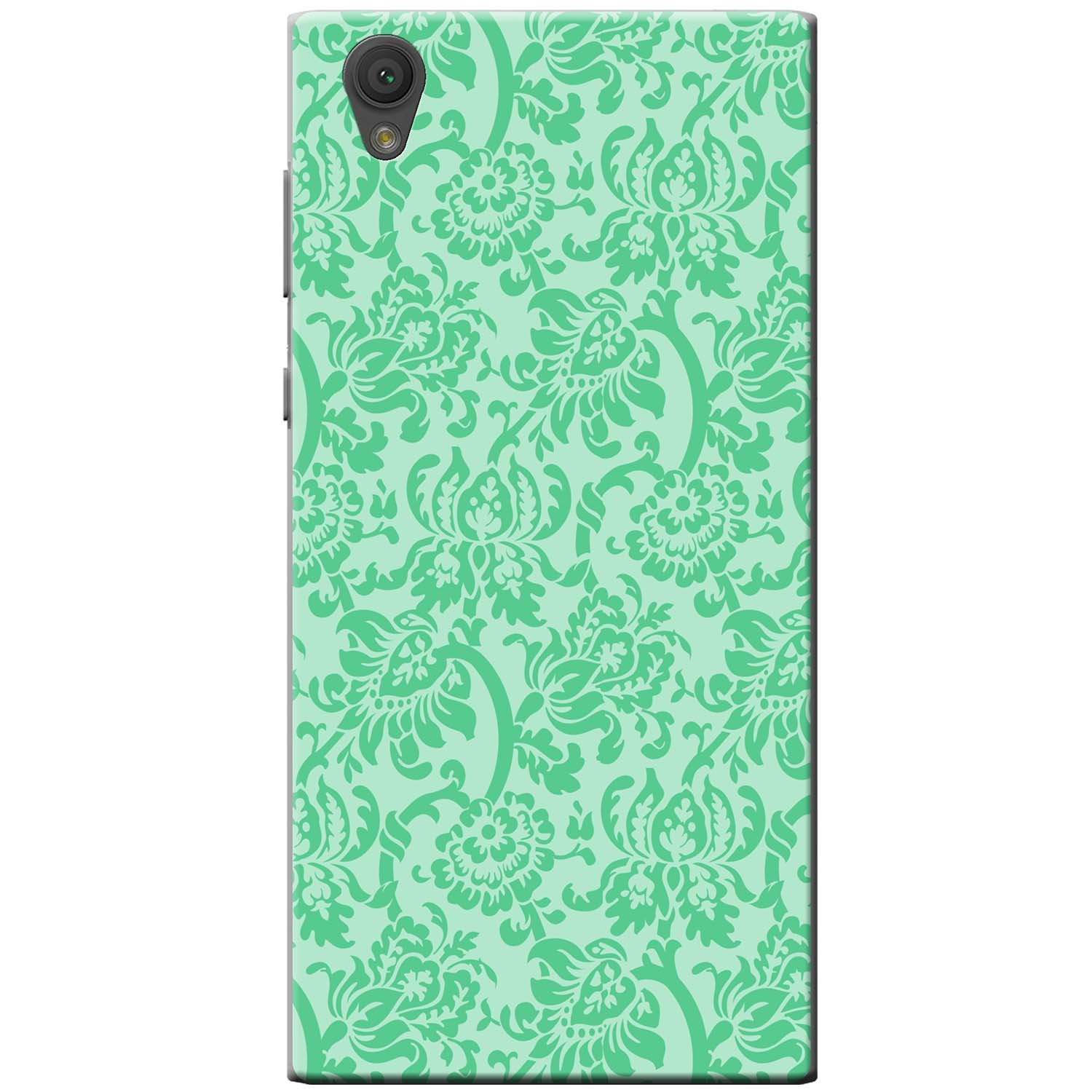 Mint Green Floral Wallpaper Design Hard Case For Sony Xperia X