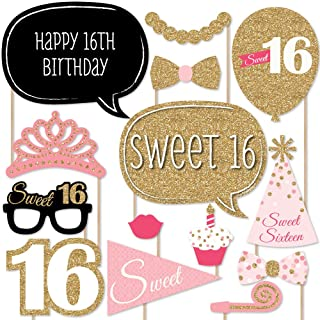 product image for Big Dot of Happiness Sweet 16 Birthday - Photo Booth Props Kit - 20 Count