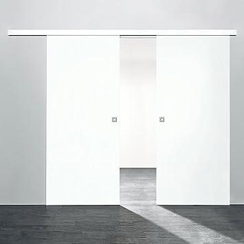 Türblatt weiß  2 flügelige Holz-Schiebetür Raumteiler 1760x2035mm Holz Weiß ...