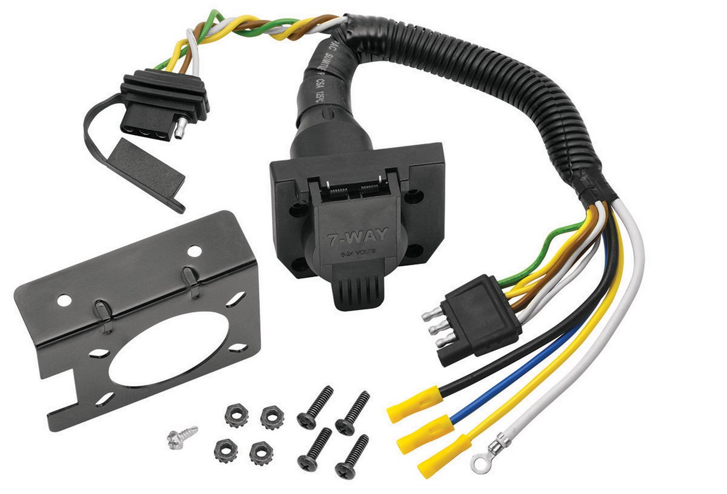Reese Towpower 85343 4 Way Flat To 7 Blade Terminal Tekonsha Tconnector Wiring Harness 118300 Adapter Automotive