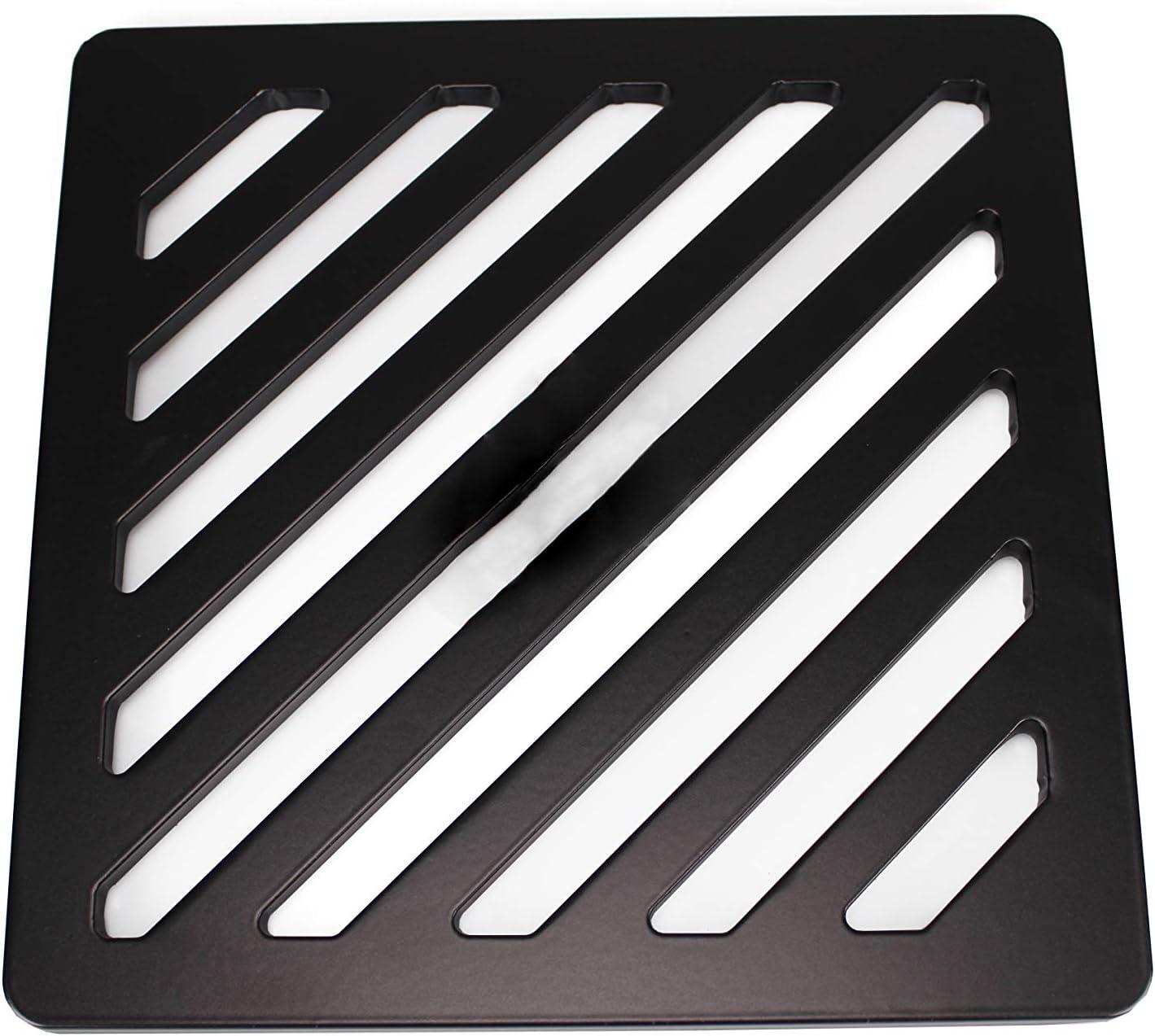 st/ärker 20,3/cm Zoll quadratische Edelstahl massiv Metall Stahl Schlucht Grid Heavy Duty Abfluss Cover ROST wie Gusseisen
