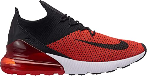 nike air max 270 flyknit red and black