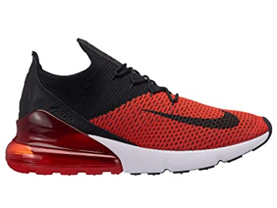 Nike Air Max 270 Flyknit Men's Chili RedBlackChallenge RedWhite Nylon Training Shoes