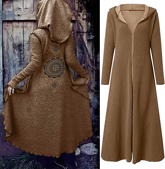 Women Teddy Velvet Hoodie Jacket Coat SFE Spring Winter Bohemian Print Long Soft Warm Cardigan Coat Plus Size
