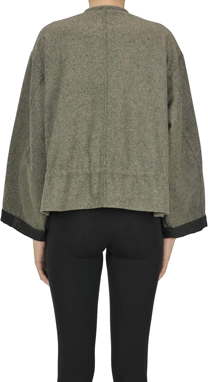 Bellerose Cropped Wool-Blend Jacket Woman Kaki