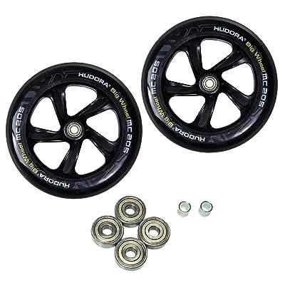 HUDORA Spare Wheel Set for Big Wheel, 205mm, Black : Sports & Outdoors