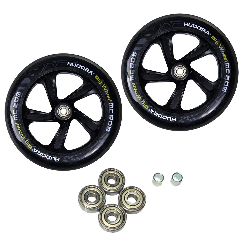 HUDORA Spare Wheel Set for Big Wheel, 205mm, Black