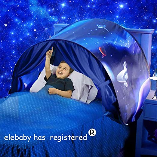 euwanyu Deluxe Kids Dream Bed Tent Space Adventure Pop-up ...