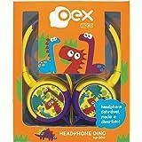 OEX HP300 Headphone Dino Microfones e Fones de Ouvido, Amarelo