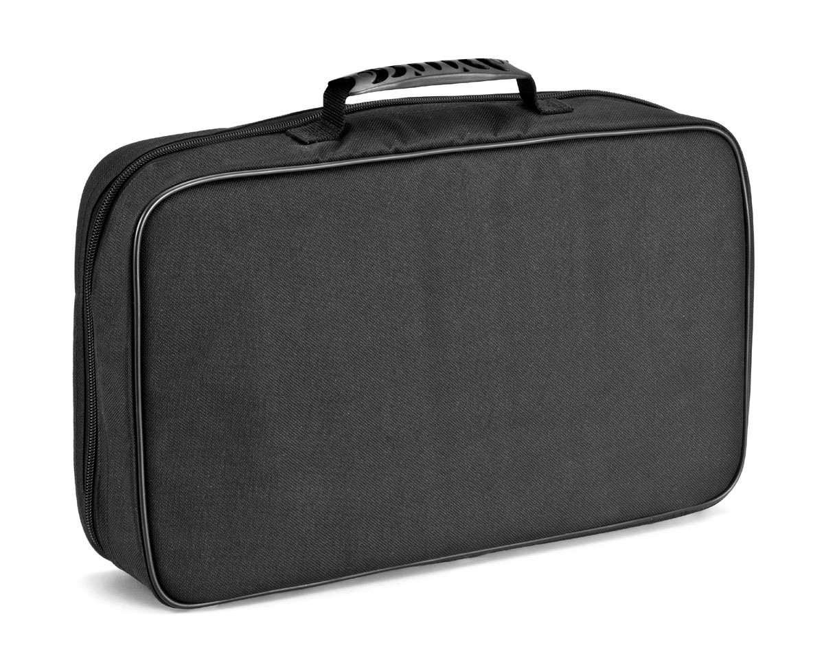Rousselon 12 Tools Slots Supple Transport Case with Non-Removable Trays, 43 x 25 cm, Stainless-Steel Black, 43 x 25 x 30 cm