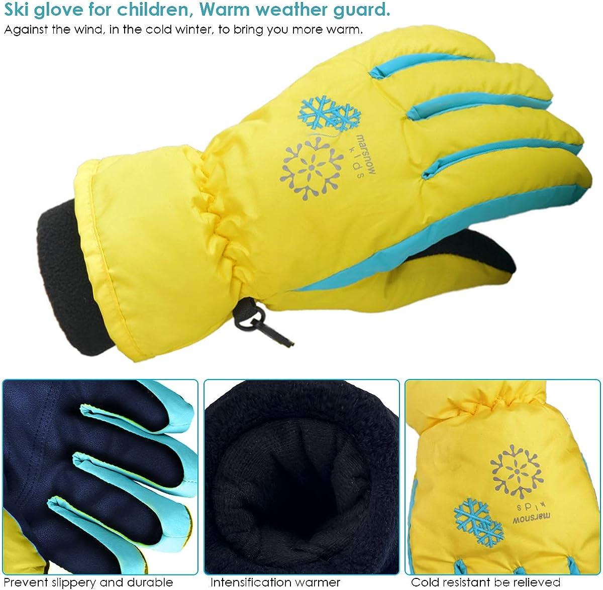 OhhGo Kinder Schneehandschuhe im Freien wasserdicht Winddicht Dicke warme Winter Skihandschuhe f/ür Kinder Jungen M/ädchen