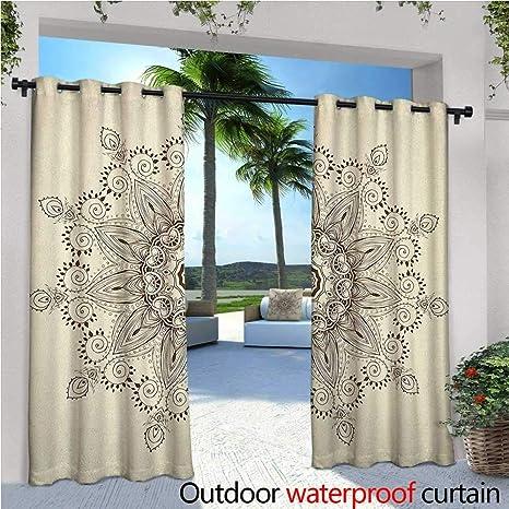 Amazon com : familytaste Lotus Exterior/Outside Curtains