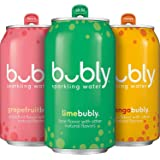 bubly Sparkling Water, Tropical Thrill Variety Pack, 12 fl oz Cans (18 Pack)