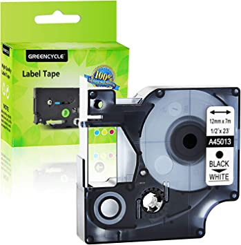 1PK Compatible Black on White DYMO D1 45013 S0720530 Labelmanager Label Tape