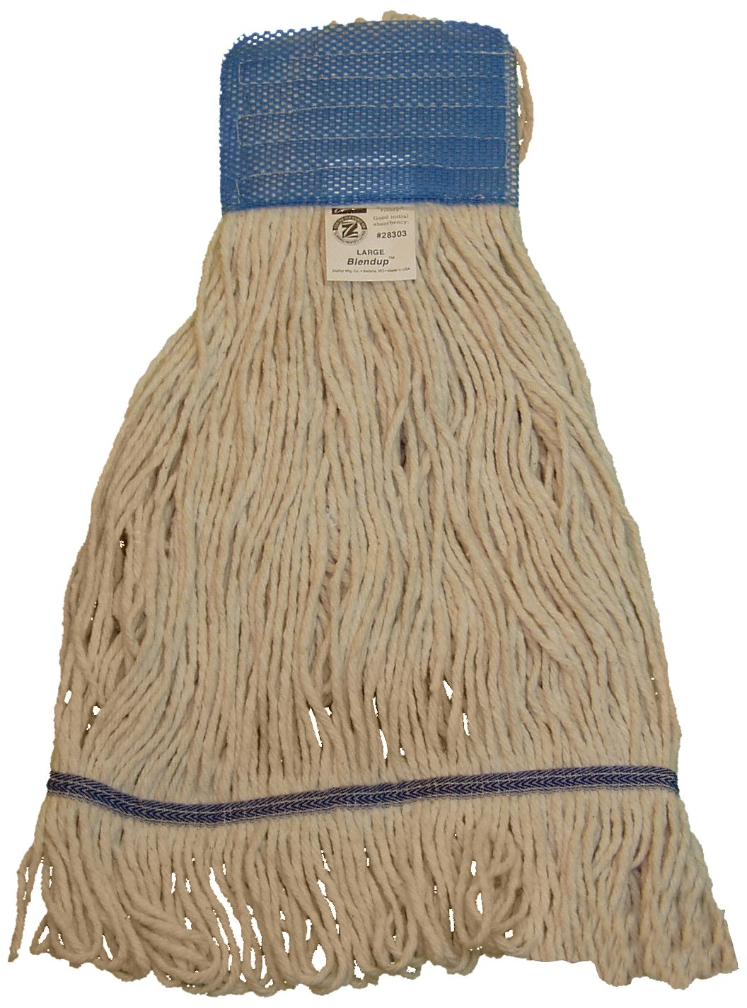 Zephyr 28304 Blendup 4-Ply Yarn Natural and Synthetic Fiber Blended X-large Loop Mop Head (Pack of 12) by Zephyr