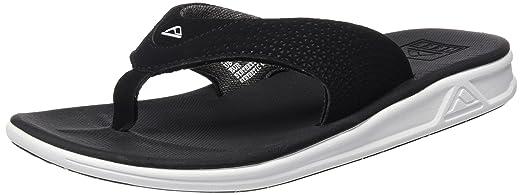 Mens Rover Sandal/Flip Flops/Slipper Footwear Black/White Size 9