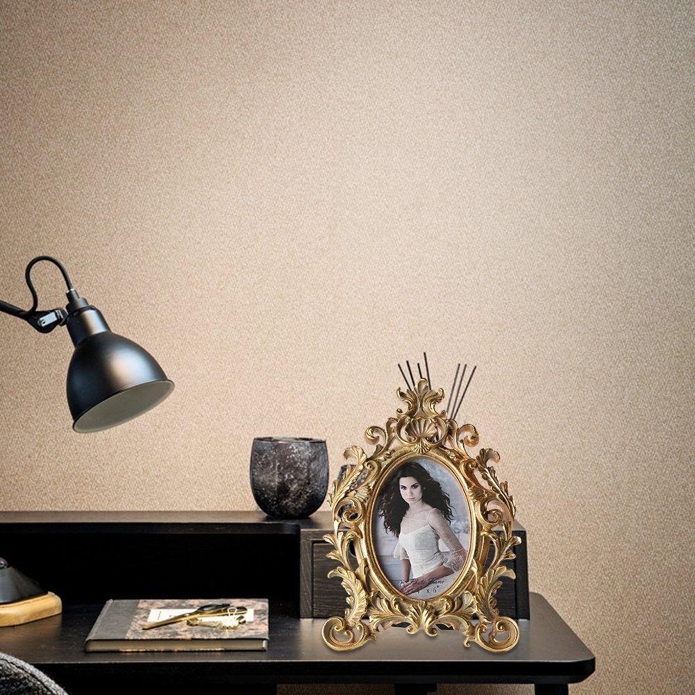 Polyr/ésine 4 x 6 Giftgarden Cadre Photo 6/x 4//Él/égant Cadre Ovale Vintage Argent/é X0389