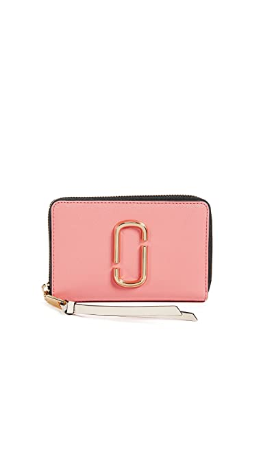 2c7e8d7d12 Marc Jacobs Women's Snapshot Small Standard Wallet, Coral Multi, One Size