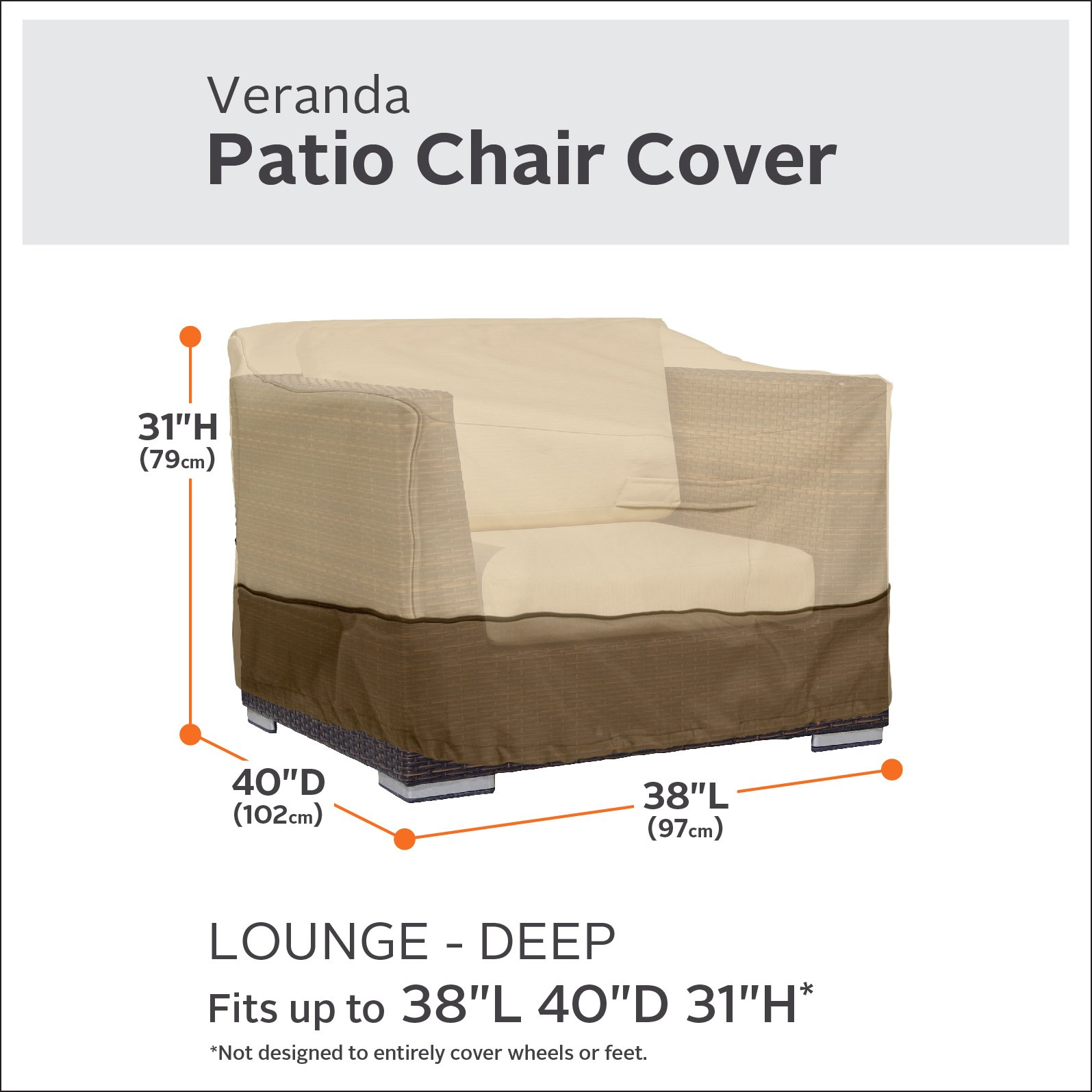 Classic Accessories Veranda Patio Deep Seat Lounge Chair Cover (4-Pack) by Classic Accessories (Image #3)