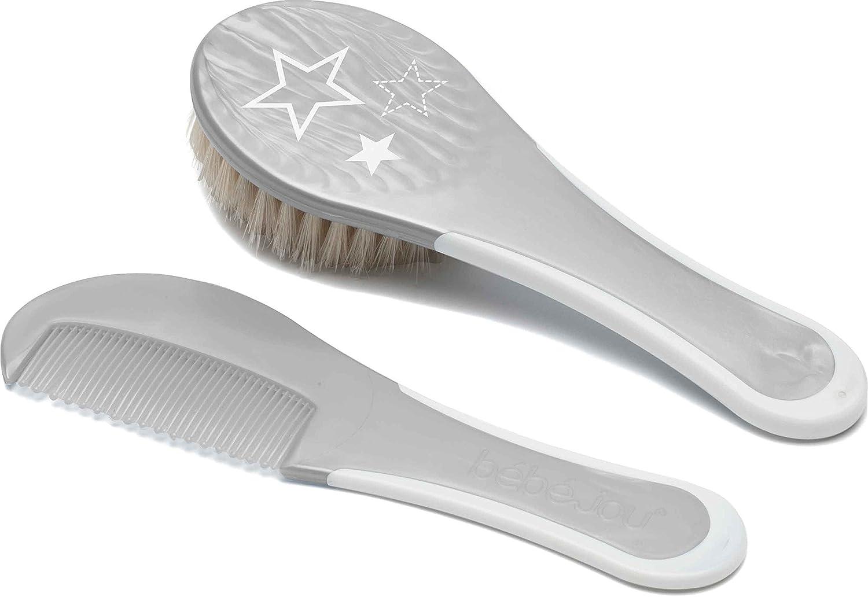 Bé bé -jou 623437 Comb and Brush Stars, Silver bébé-jou