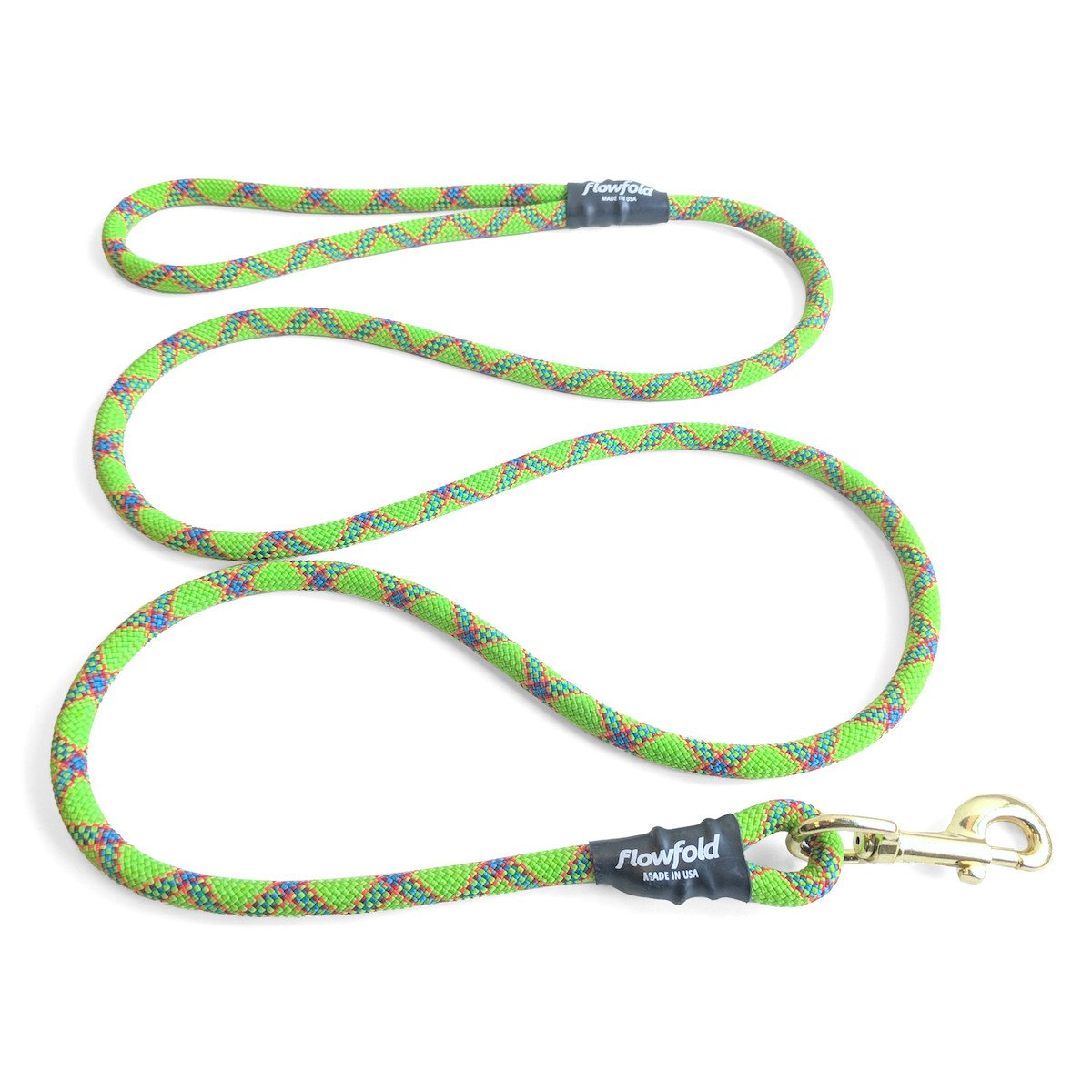 Green 6 feet Green 6 feet Flowfold Trailmate Dog Leash Strong Climbing Rope Highly Durable and Ultra Lightweight Weather Resistant Made in USA