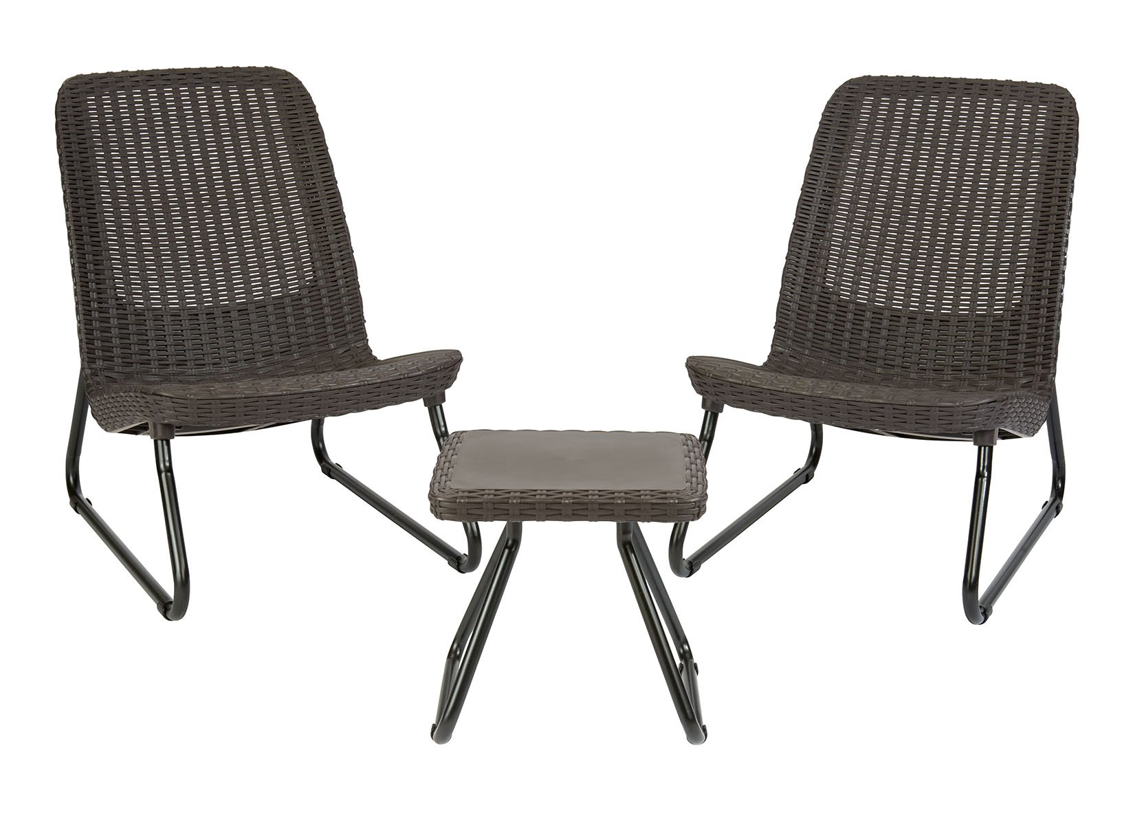 Keter Rio 3 Pc All Weather Outdoor Patio Garden Conversation Chair & Table Set Furniture, Brown by Keter (Image #1)