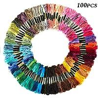 Meifyomng Hilo de Bordar, 100 madejas de algodón