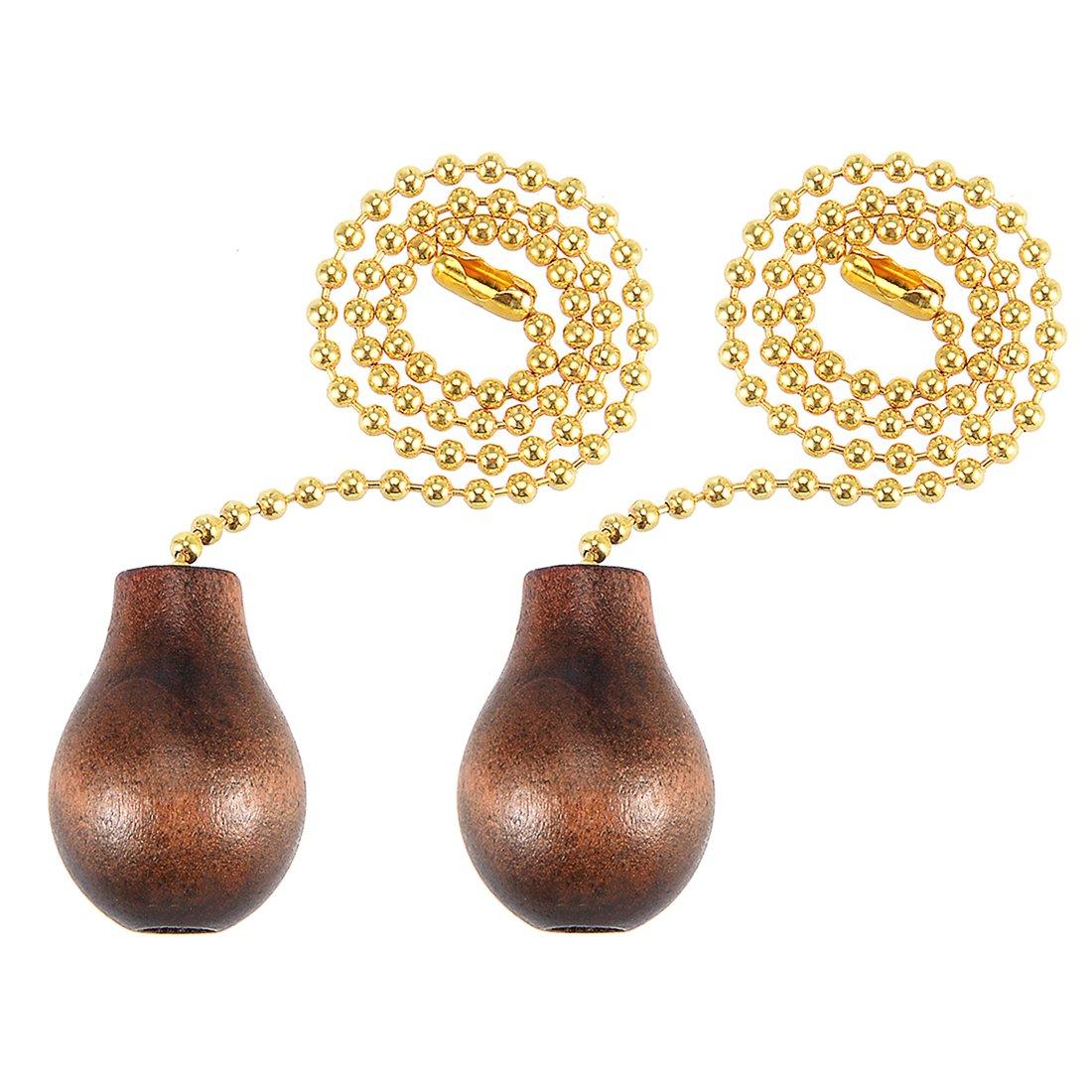 Awclub Lighting Pendant Pull Chain,12 inch olid Brass Ball Pull Chain Decorative