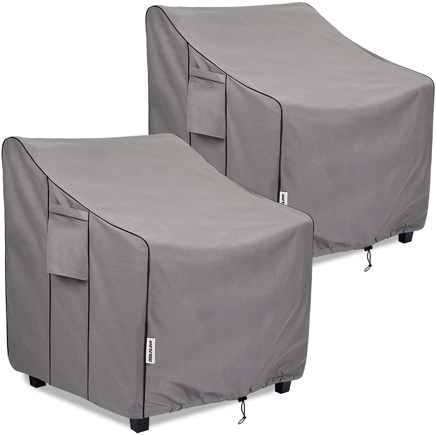 BOLTLINK Patio Chair Covers Waterproof, Heavy Duty Outdoor Furniture Covers Fits up to 35W x 38D x 31H inches -2 Pack