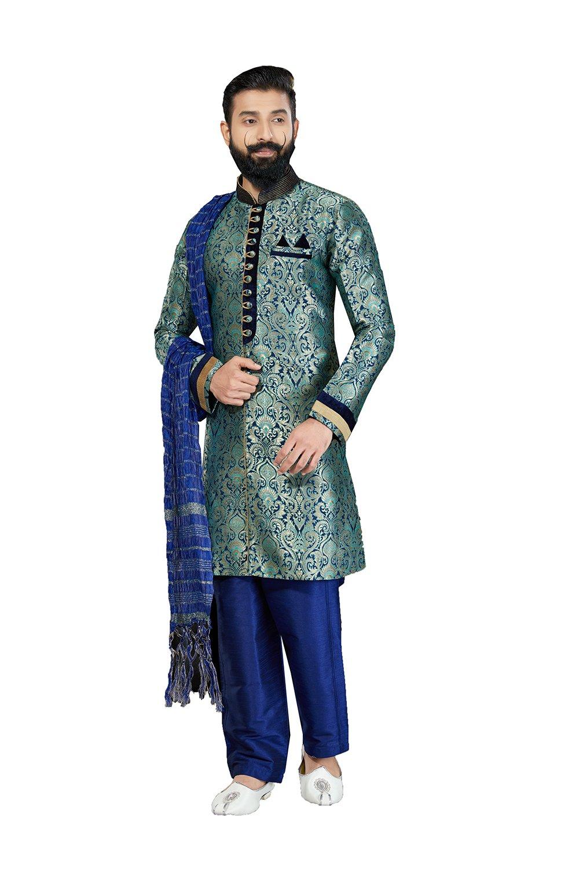 daindiashop-USA Kurta Pajama For Men Indian Designer Wedding Partywear Royal Outfit Traditional Ethnic India Dress