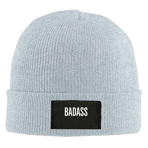 HMCOOL BadAss - Adult Knit Cap Beanies Cap Winter Warm Cap at Amazon Men s  Clothing store  be7f756d94e