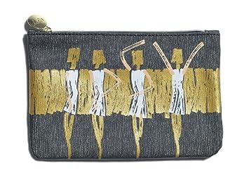 e0a1516594 Amazon.com   Ipsy Zippered Shimmer Makeup Bag - September 2016 - Black Gold  Dancer Ballerina   Beauty